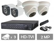 قیمت پکیج 3 دوربین مداربسته hd-tvi سیماران