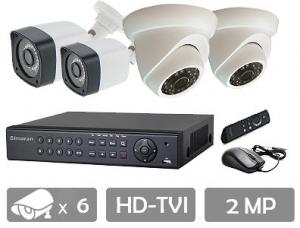 قیمت پکیج 6 دوربین مداربسته hd tvi ahd سیماران