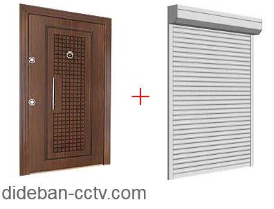 حفاظ کرکره برقی درب ضد سرقت ورودی آپارتمان
